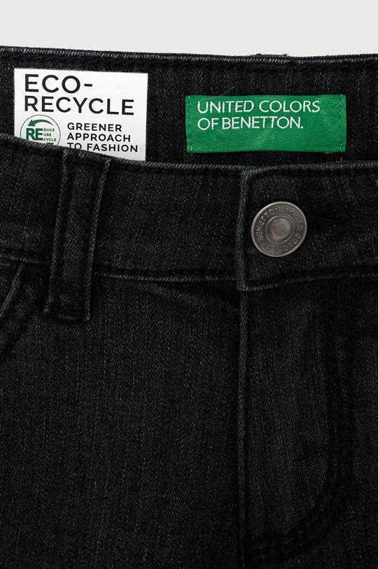 United Colors of Benetton - Dětské riflové kraťasy šedá