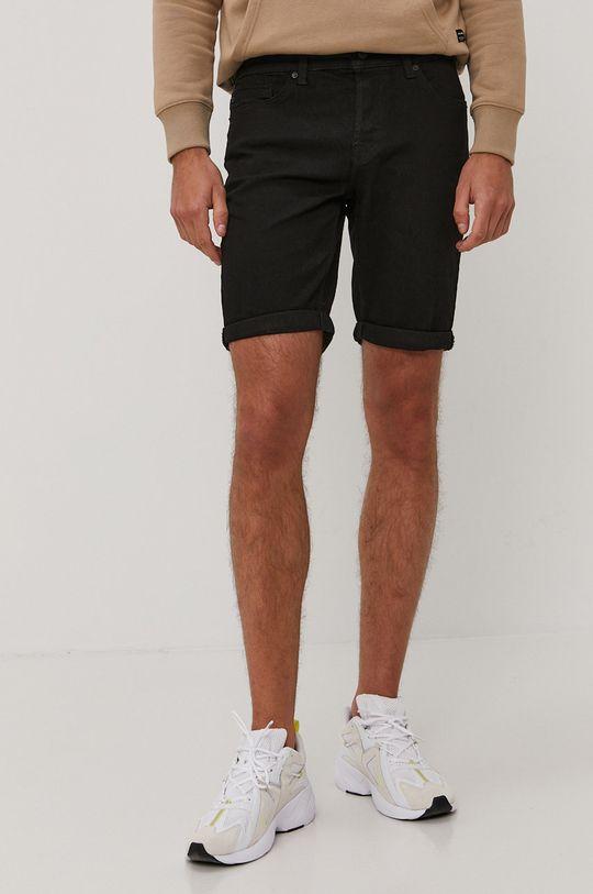 čierna Only & Sons - Rifľové krátke nohavice Pánsky