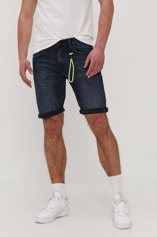 granatowy Tom Tailor - Szorty jeansowe Męski
