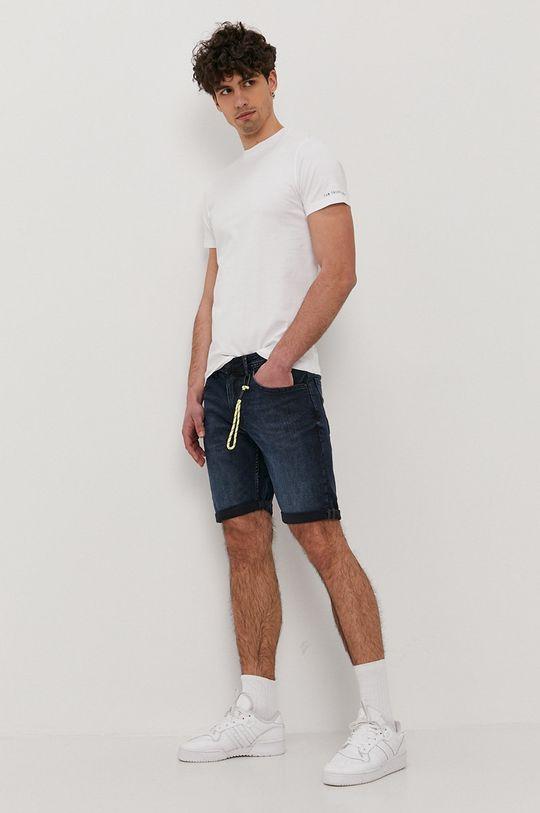 Tom Tailor - Szorty jeansowe granatowy