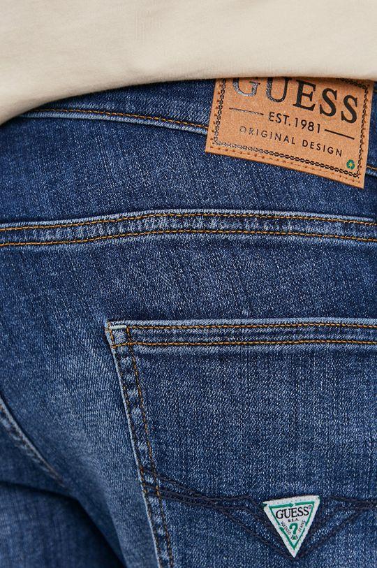 tmavomodrá Guess - Rifľové krátke nohavice