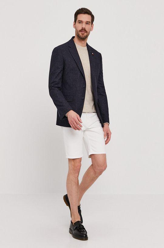 Guess - Szorty jeansowe biały