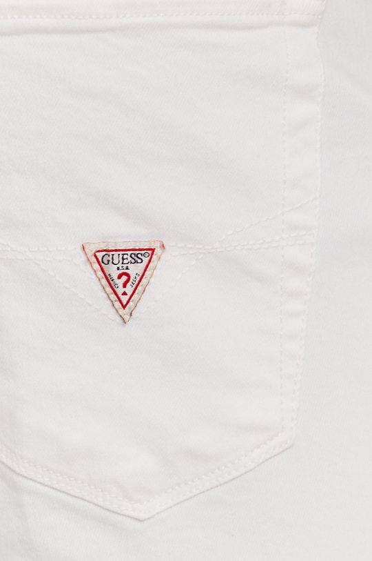 biały Guess - Szorty jeansowe