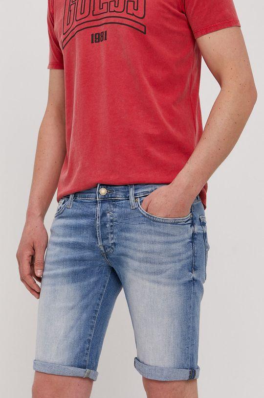 modrá Guess - Džínové šortky Pánský