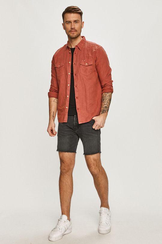 Levi's - Szorty jeansowe czarny