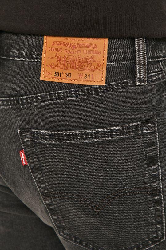 czarny Levi's - Szorty jeansowe