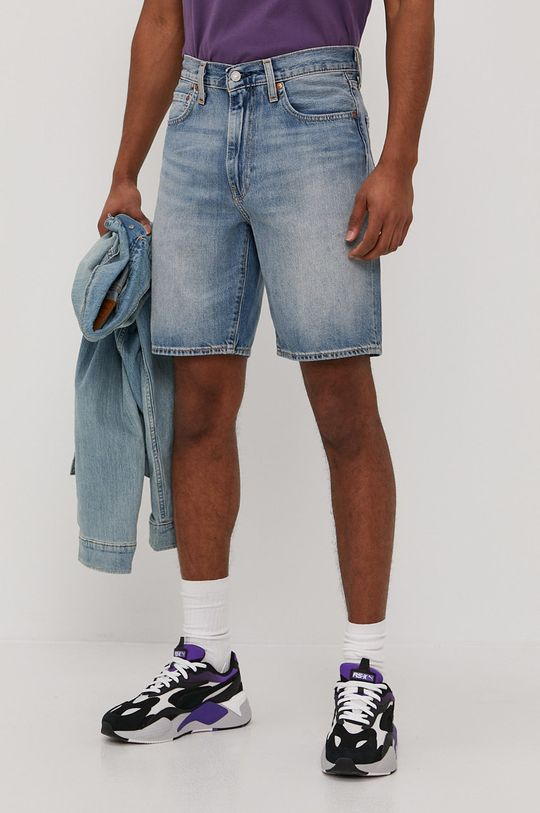 modrá Levi's - Rifľové krátke nohavice Pánsky