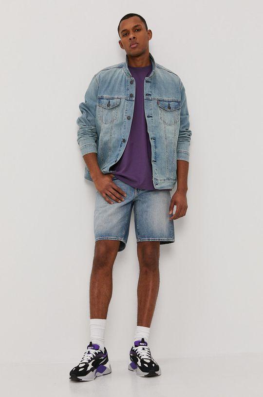 Levi's - Rifľové krátke nohavice modrá
