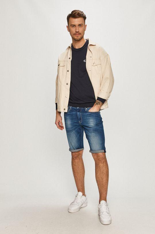 Calvin Klein Jeans - Džínové šortky námořnická modř