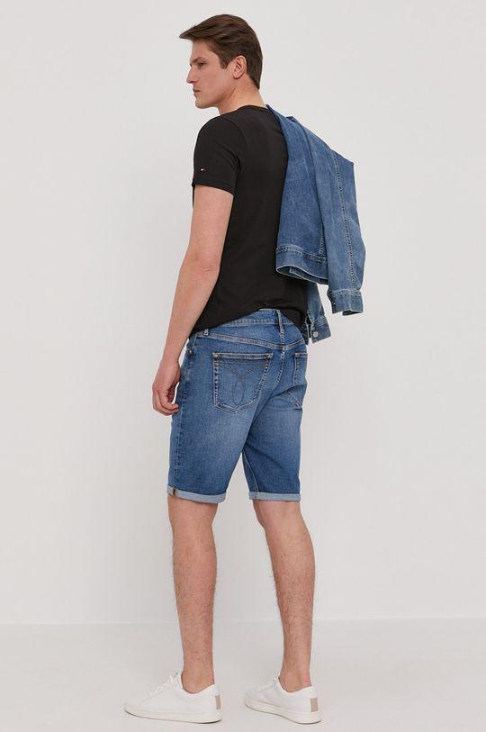 Calvin Klein Jeans - Džínové šortky  90% Bavlna, 2% Elastan, 8% Polyester