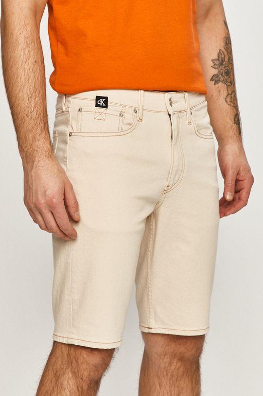 kremowy Calvin Klein Jeans - Szorty jeansowe Męski
