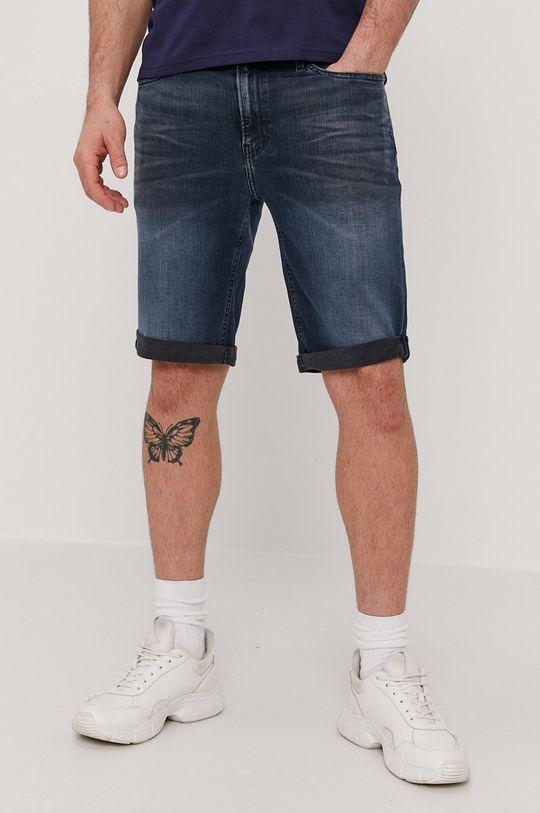 granatowy Calvin Klein Jeans - Szorty jeansowe Męski