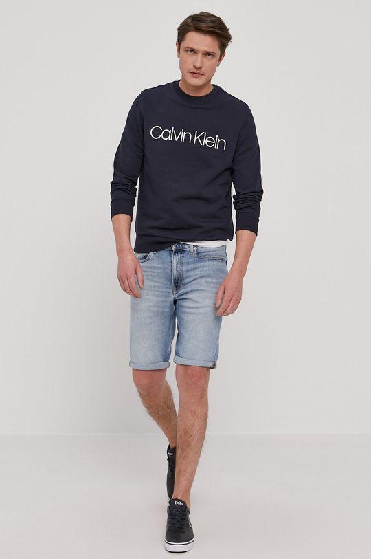 Calvin Klein Jeans - Szorty jeansowe niebieski