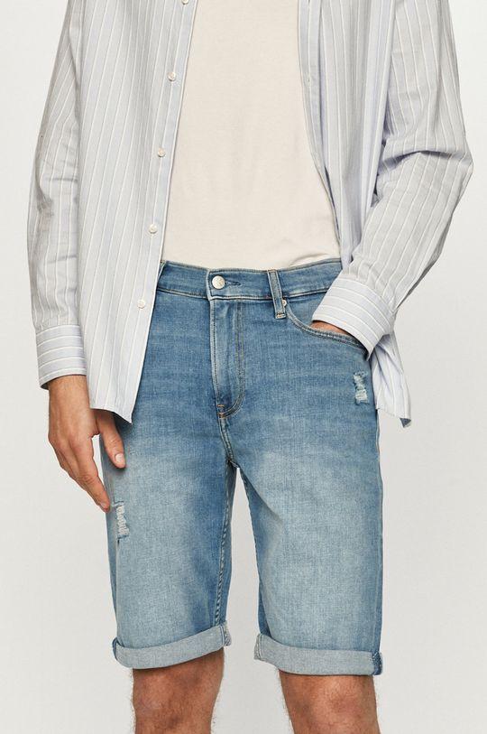 modrá Calvin Klein Jeans - Džínové šortky Pánský