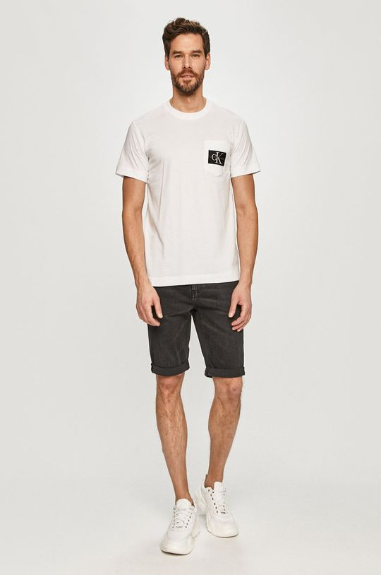 Calvin Klein Jeans - Pantaloni scurti jeans negru