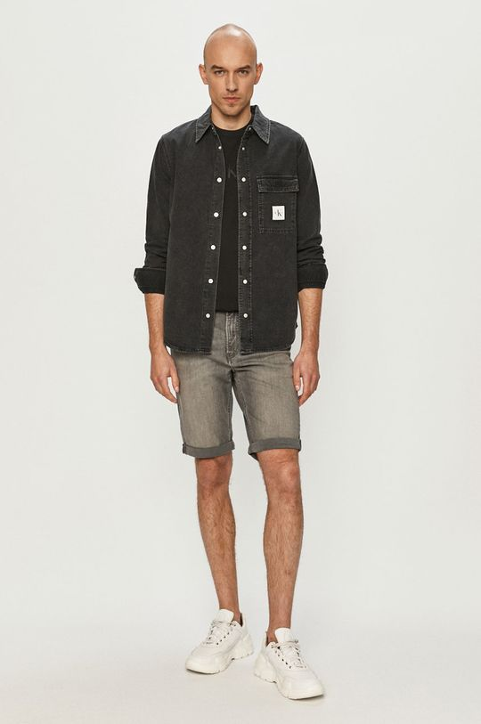 Calvin Klein Jeans - Szorty jeansowe szary