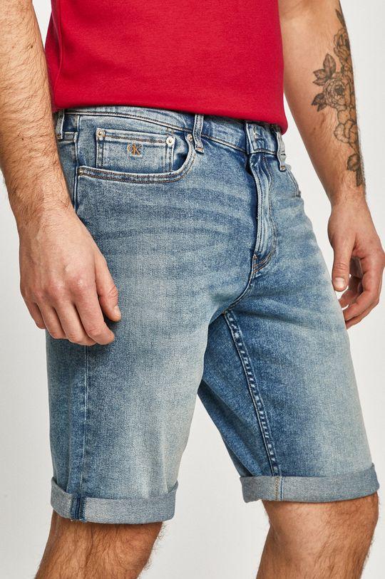 modrá Calvin Klein Jeans - Rifľové krátke nohavice Pánsky