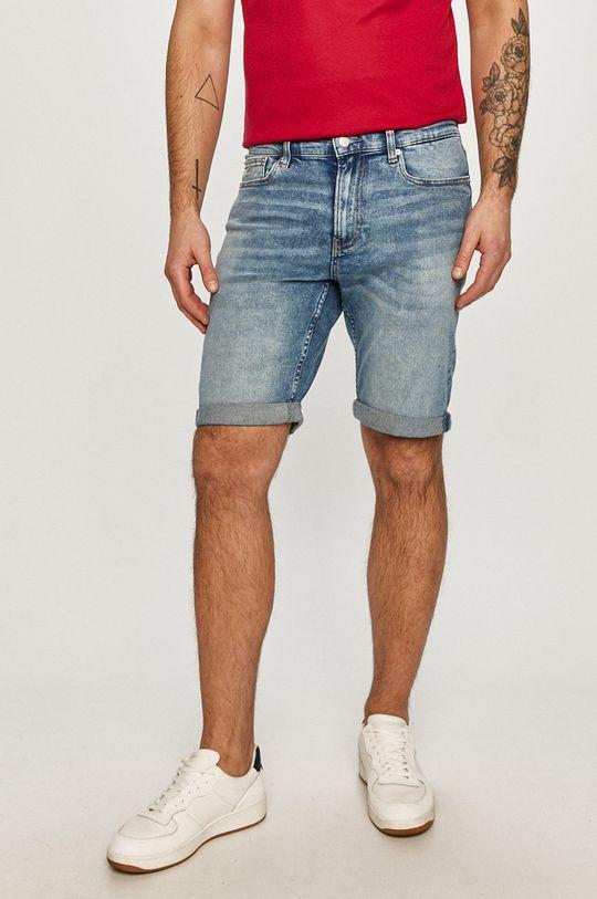 modrá Calvin Klein Jeans - Rifľové krátke nohavice