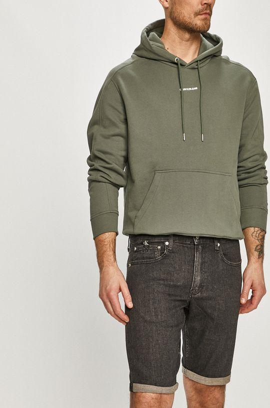 szary Calvin Klein Jeans - Szorty jeansowe Męski