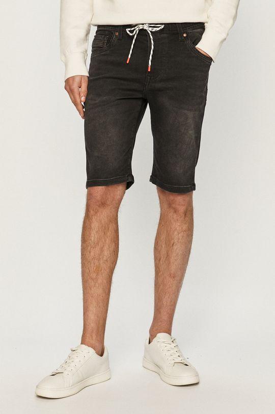 czarny Pepe Jeans - Szorty jeansowe Jagger Męski