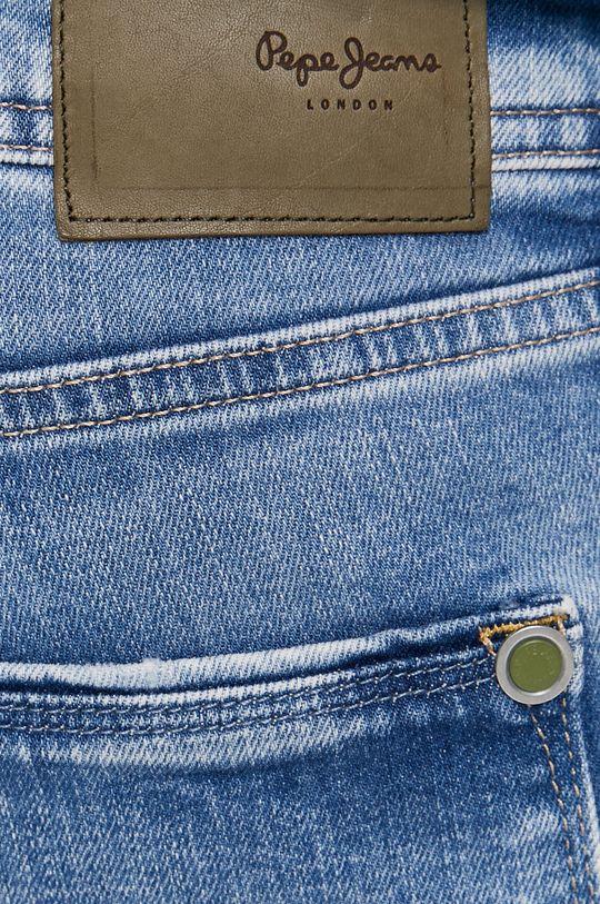 modrá Pepe Jeans - Rifľové krátke nohavice Stanley