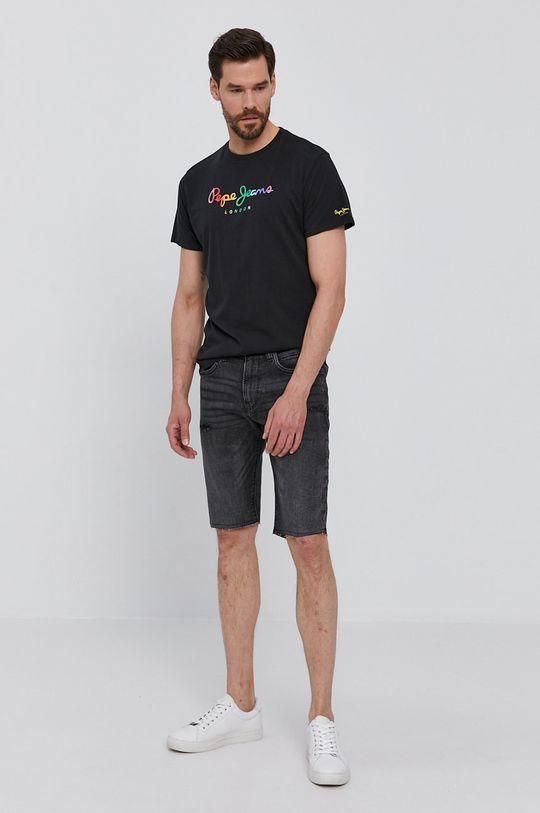 Pepe Jeans - Szorty jeansowe Stanley szary