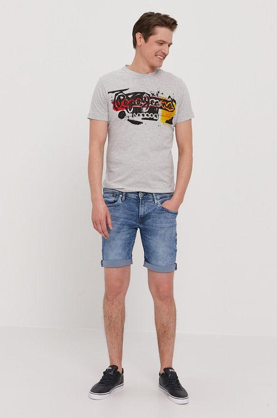 Pepe Jeans - Džínové šortky Hatch modrá