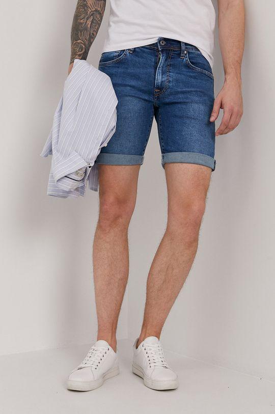 niebieski Pepe Jeans - Szorty jeansowe Cane Męski