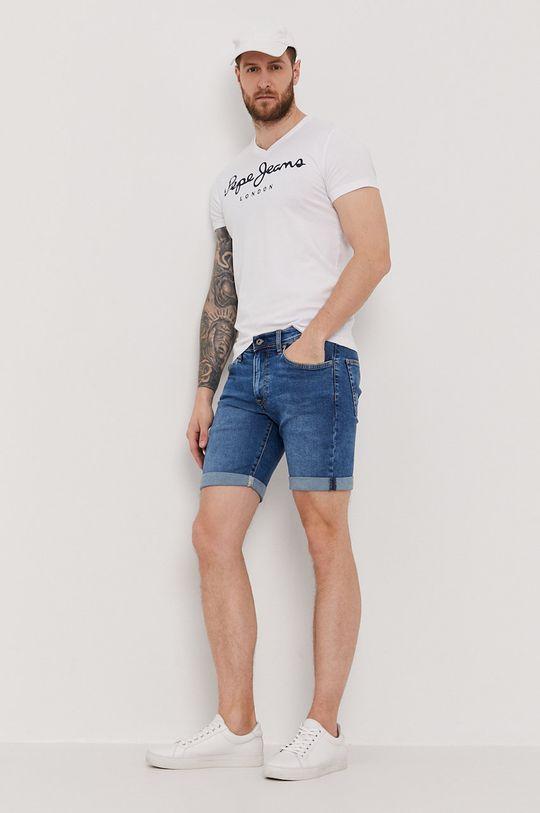 Pepe Jeans - Szorty jeansowe Cane niebieski