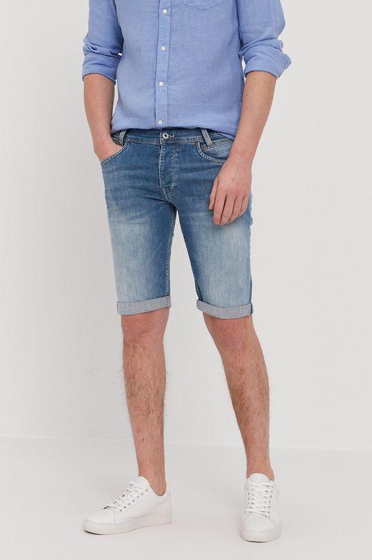 modrá Pepe Jeans - Rifľové krátke nohavice SPIKE Pánsky