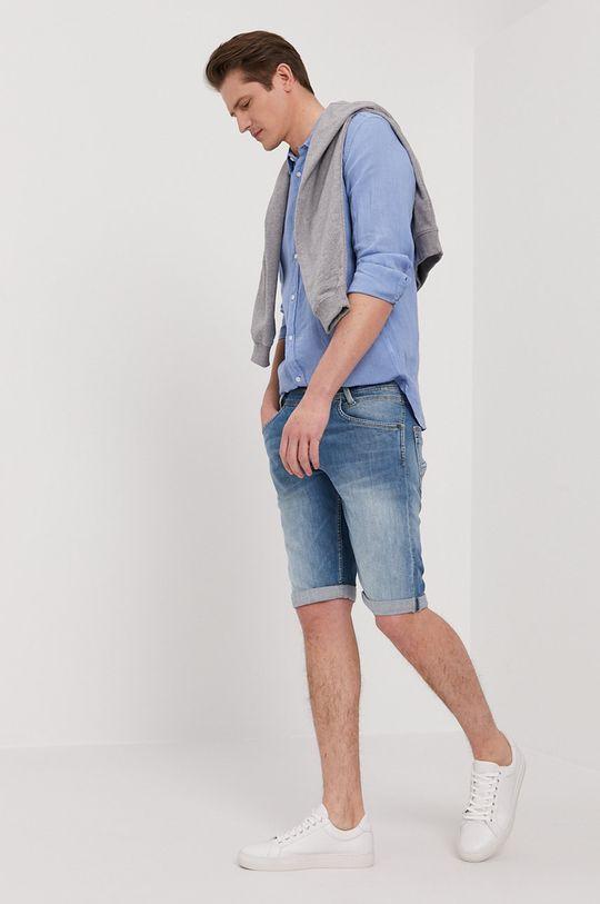 Pepe Jeans - Rifľové krátke nohavice SPIKE modrá