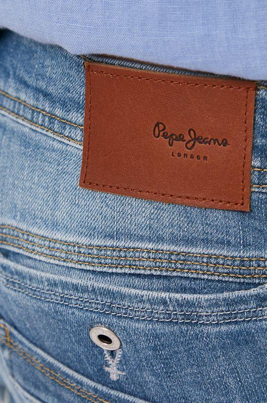 modrá Pepe Jeans - Rifľové krátke nohavice SPIKE