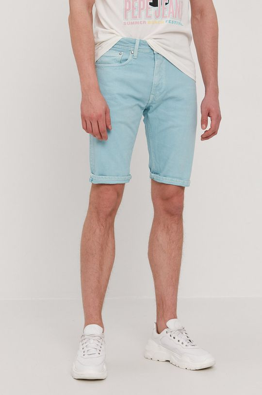 jasny turkusowy Pepe Jeans - Szorty jeansowe Stanley Męski