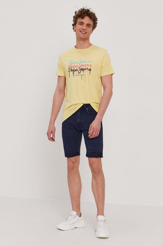 Pepe Jeans - Szorty jeansowe Stanley granatowy