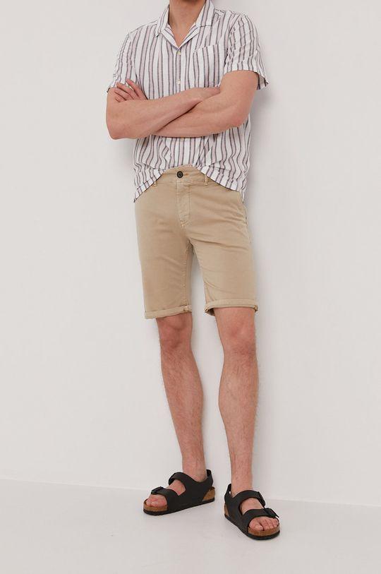 beżowy Pepe Jeans - Szorty BLACKBURN Męski