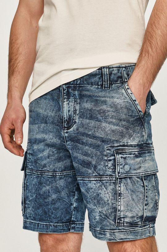 granatowy Desigual - Szorty jeansowe Męski