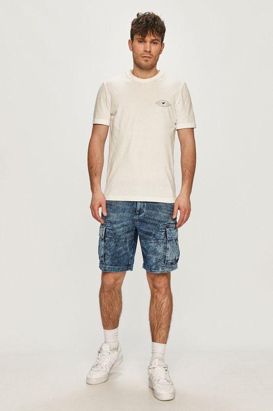 Desigual - Szorty jeansowe granatowy