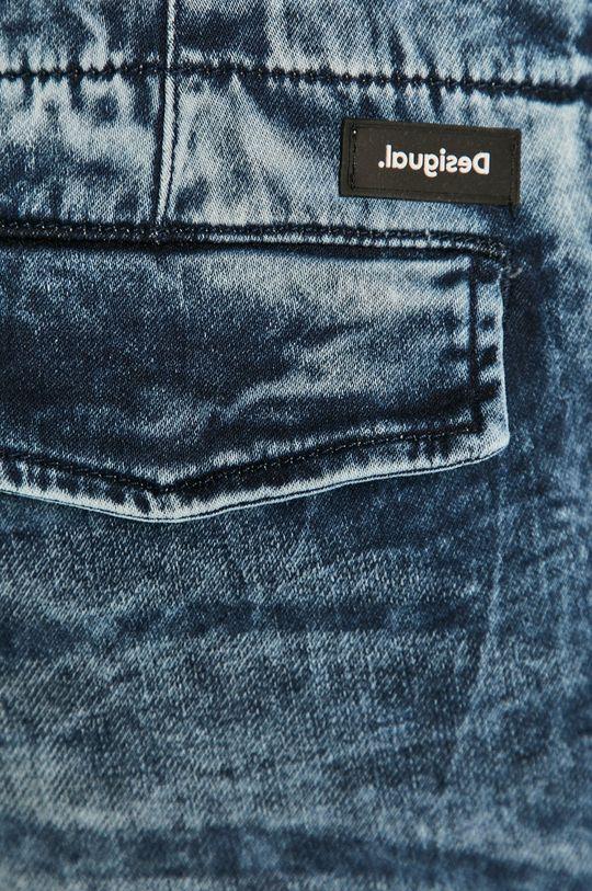 granatowy Desigual - Szorty jeansowe