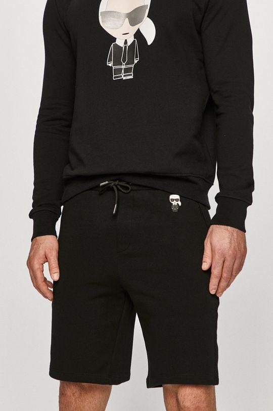 czarny Karl Lagerfeld - Szorty Męski