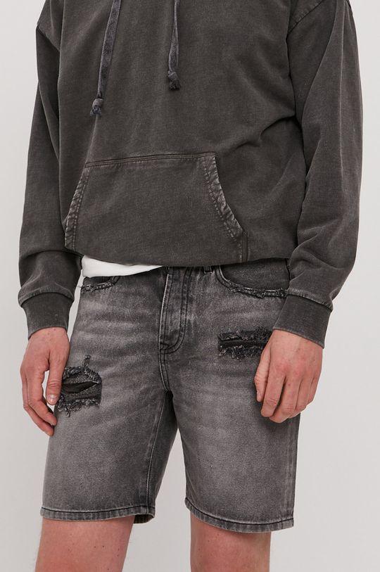 sivá Tigha - Rifľové krátke nohavice Ley Pánsky