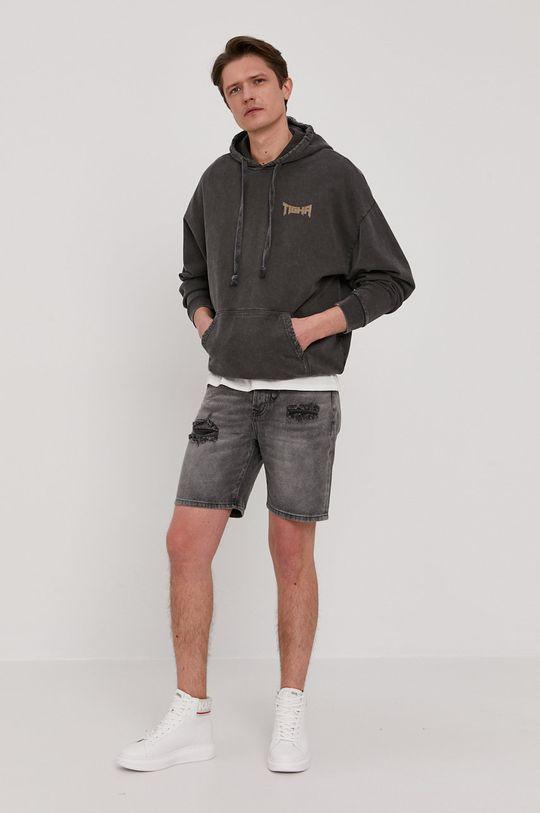 Tigha - Rifľové krátke nohavice Ley sivá
