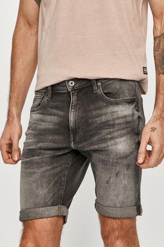 sivá G-Star Raw - Rifľové krátke nohavice Pánsky