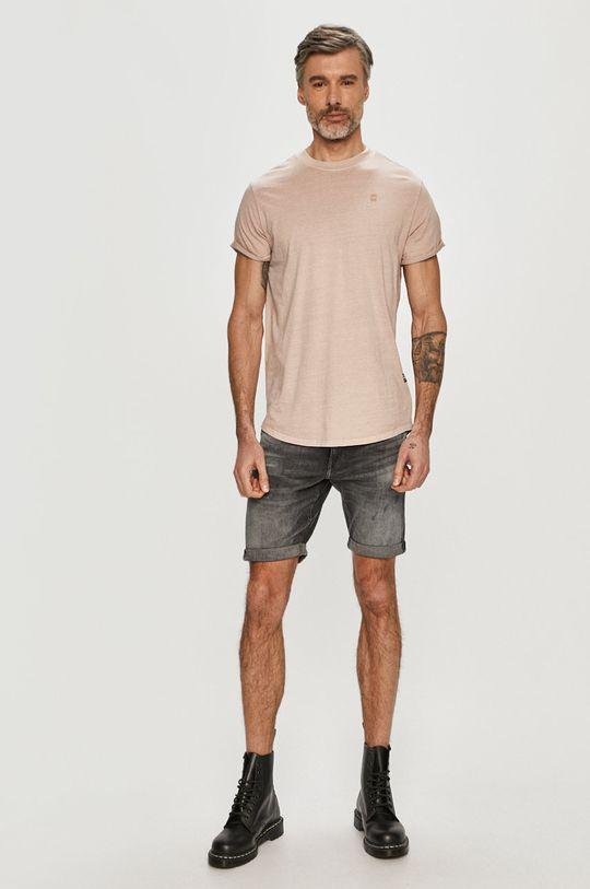 G-Star Raw - Rifľové krátke nohavice sivá