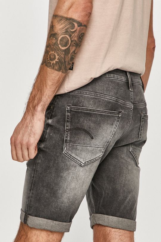 G-Star Raw - Rifľové krátke nohavice  91% Bavlna, 2% Elastan, 7% Elastomultiester