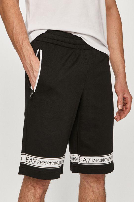 negru EA7 Emporio Armani - Pantaloni scurti De bărbați