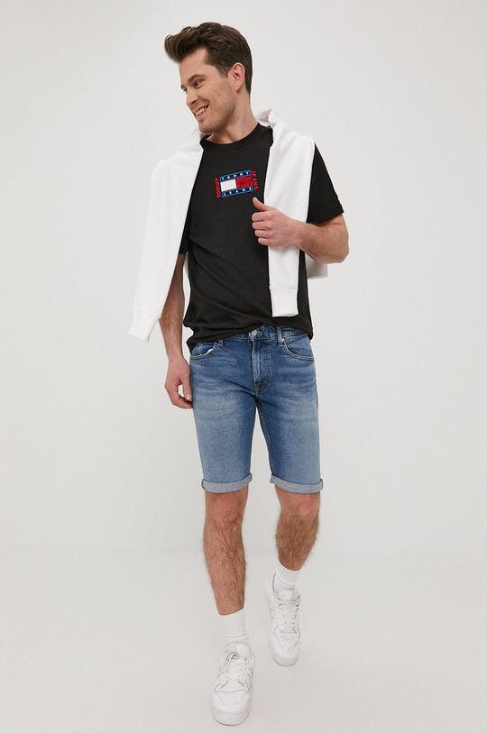 Tommy Jeans - Szorty jeansowe niebieski
