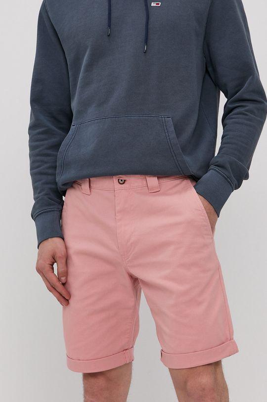 ružová Tommy Jeans - Šortky Pánsky