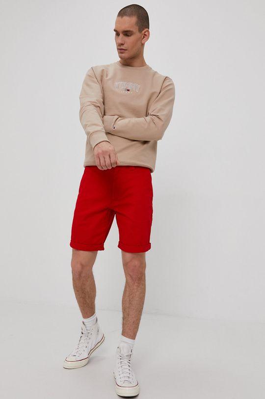 Tommy Jeans - Szorty czerwony