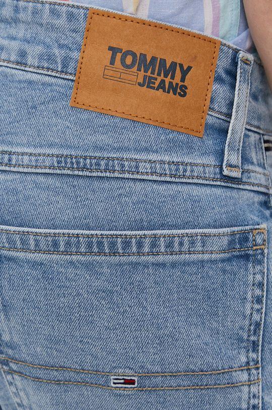 Tommy Jeans - Rifľové krátke nohavice Pánsky
