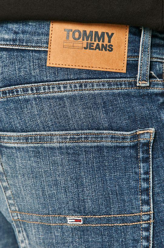 modrá Tommy Jeans - Rifľové krátke nohavice
